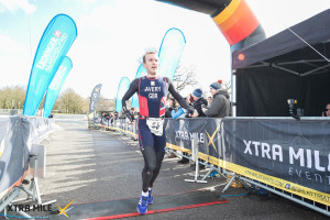 Finish line - happy to win!